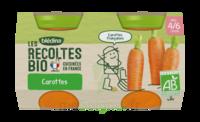 Blédina Les Récoltes Bio Carottes De Bretagne 2 Pots/130g à PARIS