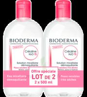 CREALINE TS H2O Solution micellaire sans parfum nettoyante apaisante 2Fl/500ml à PARIS