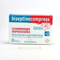BISEPTINECOMPRESS COMPRESSSES IMPREGNEES, bt 8 à PARIS