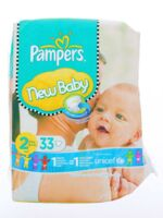 PAMPERS COUCHES NEW BABY TAILLE 2 3-6 KG x 33 à PARIS