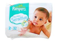 PAMPERS COUCHES NEW BABY SENSITIVE TAILLE 2 3-6 KG x 32 à PARIS
