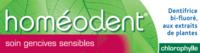 Boiron Homéodent Soin Gencives Sensibles Pâte Dentifrice Chlorophylle 2T/75ml à PARIS