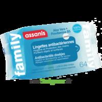 Assanis Family Lingette antibactérien mains Pochette/64 à PARIS