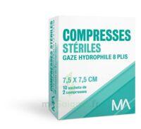 Marque Conseil Compresse stérile gaze hydrophile 7,5x7,5cm 10 Sachets/2 à PARIS