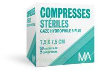 Marque Conseil Compresse stérile gaze hydrophile 7,5x7,5cm 50 Sachets/2 à PARIS