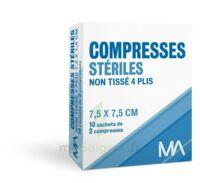 Marque Conseil Compresse stérile non tissé 7,5x7,5cm 10 Sachets/2 à PARIS
