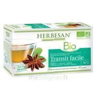 Herbesan Infusion Bio Tisane Transit Facile 20 Sachets à PARIS