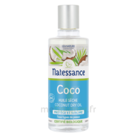 Natessance Huile Coco Bio 100% Pure 100ml à PARIS