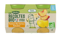 Blédina Les Récoltes Bio Pommes Nectarines Bananes 2 Pots/130g à PARIS