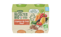 Blédina Les Récoltes Bio Légumes Du Soleil Bœuf 2 Pots/200g à PARIS