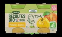 Blédina Les Récoltes Bio Pommes Coings 2 Pots/130g à PARIS
