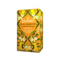 PUKKA BIO Citron, Gingembre et Miel de Manuka Tisane immunité Citron Gingembre Miel de Manuka 20 Sachets à PARIS