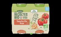 Blédina Les Récoltes Bio Tomates Riz Veau 2 Pots/200g à PARIS